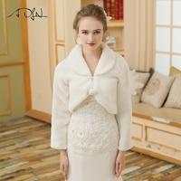 Adln Дешевые Кот Свадебное теплая куртка Длинные рукава свадебное болеро Wrap искусственного меха женские пальто