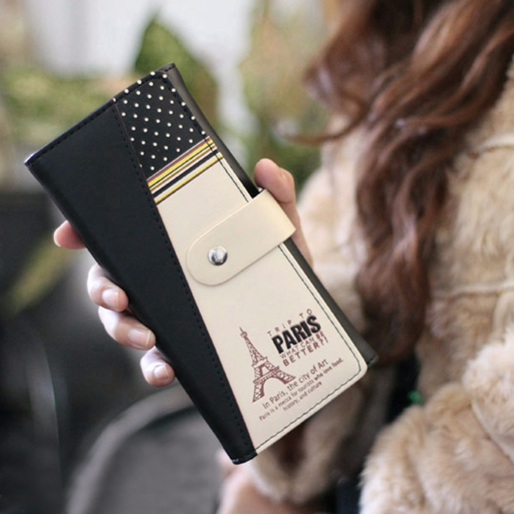 New Fashion Envelope Women Wallet Floral Printing 3 Fold Wallets PU Leather Wallet Hasp Zipper Long Ladies Clutch Coin Purse 2018 new fashion business envelope women male black red wallet hit color 3 fold pu leather wallet long ladies clutch coin purse