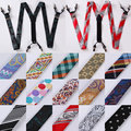 Dot Paisley Floral Stripe Jacquard Woven New Fashion Classic Men Suspenders Lady Adjustable Elastic Clip-on Brace Suspenders TA