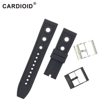 22mm 24mm Silicone Watchbands For Breitling Chronomat Series Stainless Steel Clasp Watch Accessories Transocean