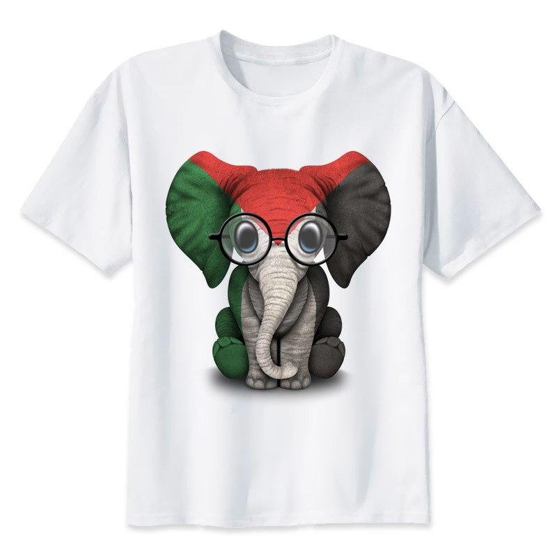 55a3ad3e7e3f7f Palestine Baby Elephant T-Shirt men 2017 Summer fashion tshirt casual white  print t shirt male comfortable boy top tees MR1187