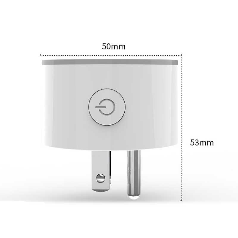 ASEER inteligentna wtyczka inteligentne gniazdo WiFi z nami wtyczka AC100-240V współpracuje z Alexa Google domu Mini IFTTT sterowanie głosem inteligentne życie