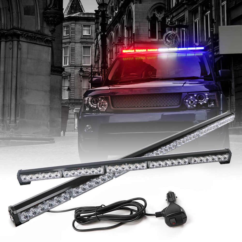 12 2 To 47 Car Truck Traffic Advisor Led Flash Strobe Light Bar Fireman Flashing Police Emergency Warning Lights 12v 24v
