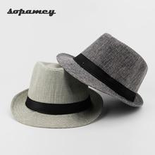 Здесь можно купить  2017 New Unisex Hat Women Hat Men Gangster Summer Beach Cap Hard Felt Fedora Trilby Panama Jazz Gangster Hats wholesale  Apparel Accessories