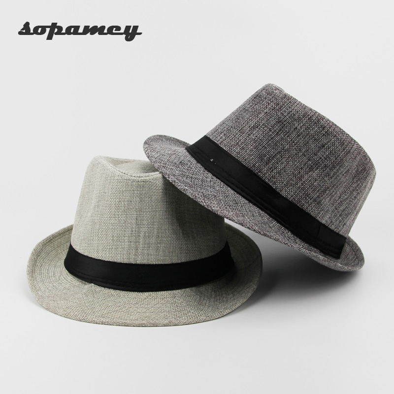 2017 New Unisex Hat Women Hat Men Gangster Summer Beach Cap Hard Felt Fedora Trilby Panama Jazz Gangster Hats wholesale