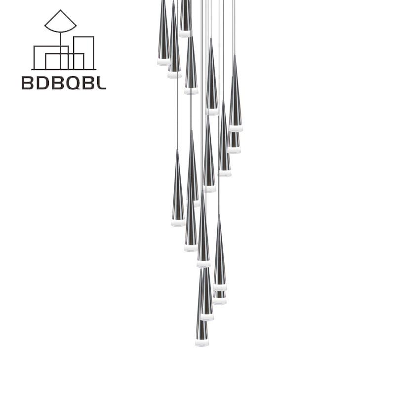 BDBQBL Modern LED Conical Pendant Light Aluminum&Metal Home/Industrial Lighting Hang Lamp Living Room Bar Cafe Droplight Fixture стоимость