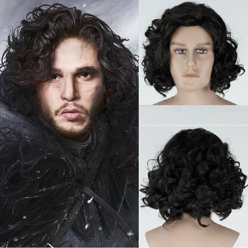 Movie Game of Thrones Cosplay Wig Daenerys Targaryen Wig Jon Snow Brave Merida Short Synthetic Wigs Hair For Women Men Boy Party