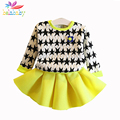 Belababy Baby Girl Dress Clothing Set 2017 Spring Children Star Pattern Sweatshirt+Skirt 2PCS Princess Kids Outfits Clothes Suit