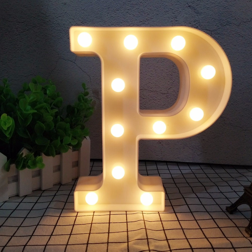 Table Light 3D LED Night light wall lamp A-Z Alphabet Letter Symbol Indoor Decoration Chirstmas Marquee Sign Romantic Display