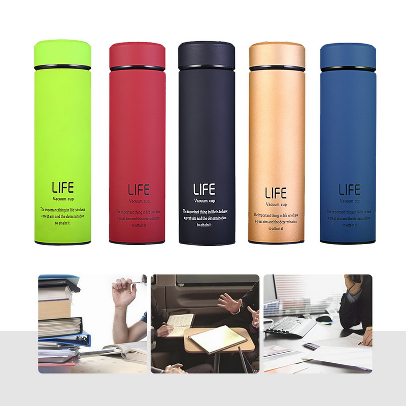 New 500ml 5 colors BPA FREE coffee Life Thermos Cup double layer Insulated Stainless Steel Vacuum Flask Travel Auto TEA Mug in Vacuum Flasks Thermoses from Home Garden