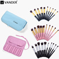 Vander Brand Pro 10pcs Makeup Brushes Set Cosmetic Eyeshadow Powder Foundation Blending Blush Lip Brush Beauty Tools Kit w/ Bag