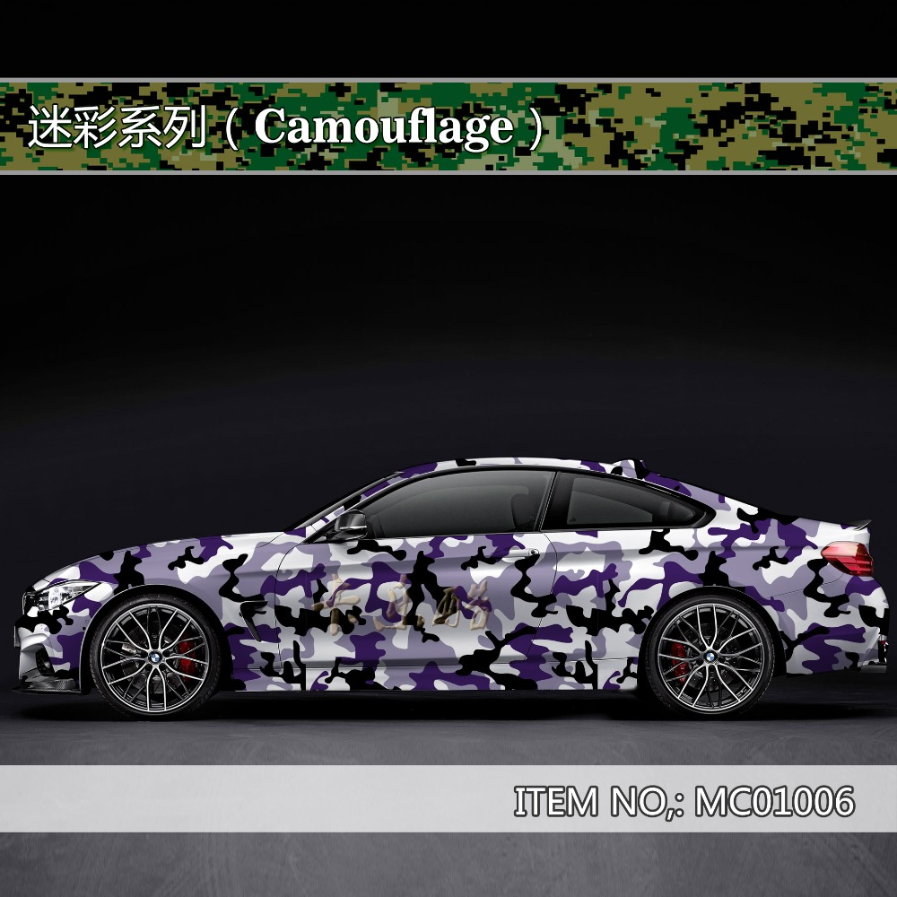 Camouflage custom car sticker bomb Camo Vinyl Wrap Car Wrap With Air Release snowflake bomb sticker Car Body StickerMC010