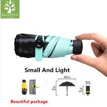 2017 Calidad Mini Bolsillo Paraguas Transparente Paraguas Compacto Plegable Soleado y Lluvioso Paraguas A Prueba de Viento de Los Hombres de Las Mujeres Regalos de Cumpleaños
