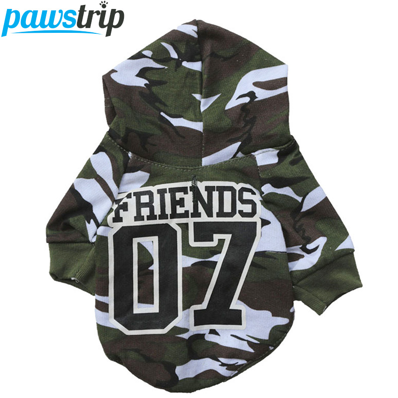 Pet Small Dog Clothes Camo Puppy Coat Sweatshirt Chihuahua Yorkie Dog Hoodie Clothing