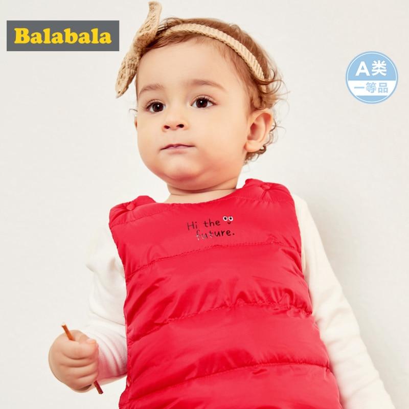 Balabala Jacket QUILTED Lightweight Newborn-Baby-Girl Infant Boy Closure Down-Vest Fitted