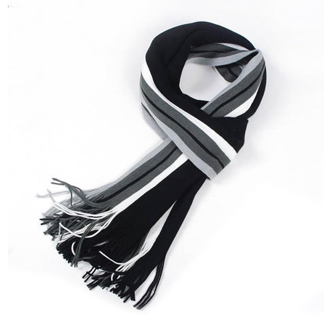 hombres de invierno bufanda clsica bufanda de lana artificial masculina bufanda rayada larga del mantn