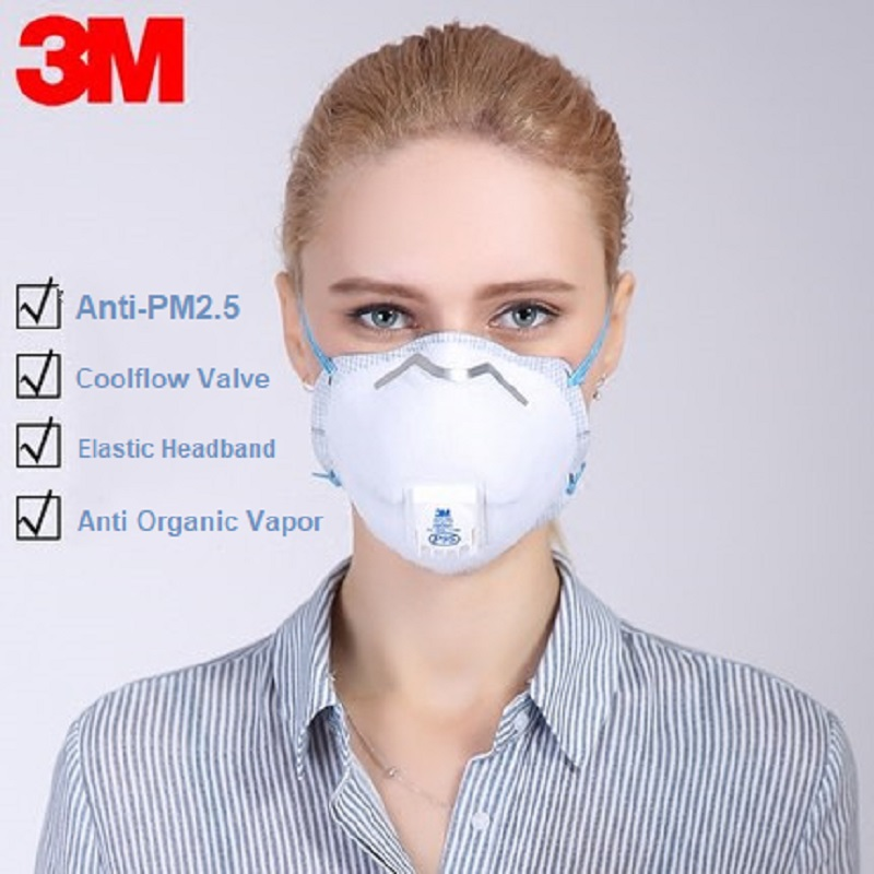 Respirators Chemical Respirators 1/5pcs 3m P95 8577 Gas Mask Anti-pm 2.5 Organic Vapor Odor Particulate Formaldehyde Second-hand Smoke Coolflow Valve Respirator