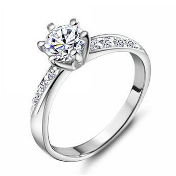 Karšta parduoti mada 925 Sidabrinis ypač blizgus cirkonis Moterų pirštų vestuviniai žiedai, papuošalai, didmeninė prekyba gimtadienio dovana