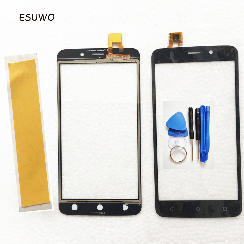 ESUWO Touch Screen Digitizer For Fly FS509 FS 509 Nimbus 9 Touch Panel Front Glass Lens Touchscreen