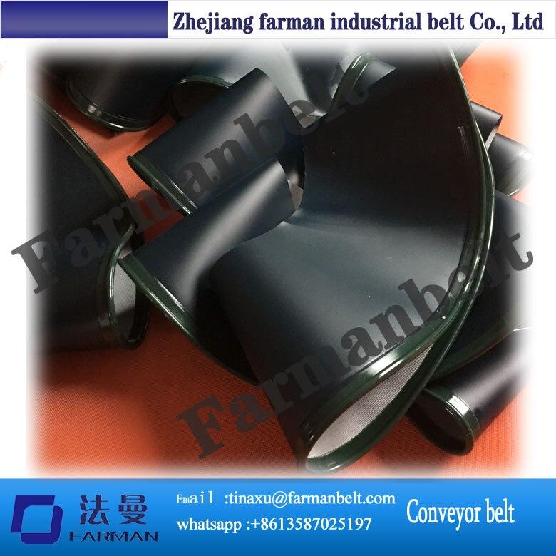 ФОТО 90 Degree Curved Sidewall PVC conveyor Belt