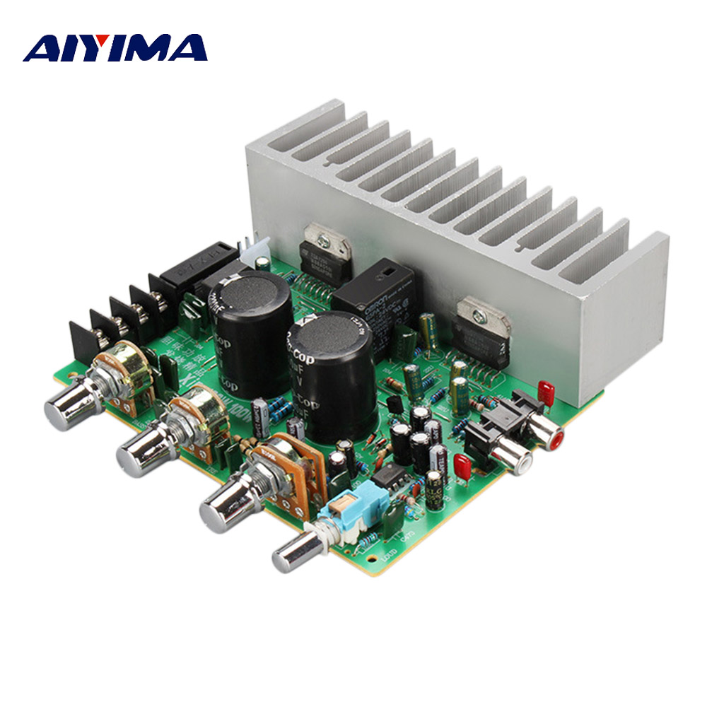 Aiyima 2.0 TDA7294 High Power Amplifier 100W*2 Audio Stereo Amplifier Board for DIY Speaker AMP Accessories Dual AC 20V-26V aiyima upc1237 speaker protection board dual channel power on delay dc protect module 11 26v for audio amplifier amp diy