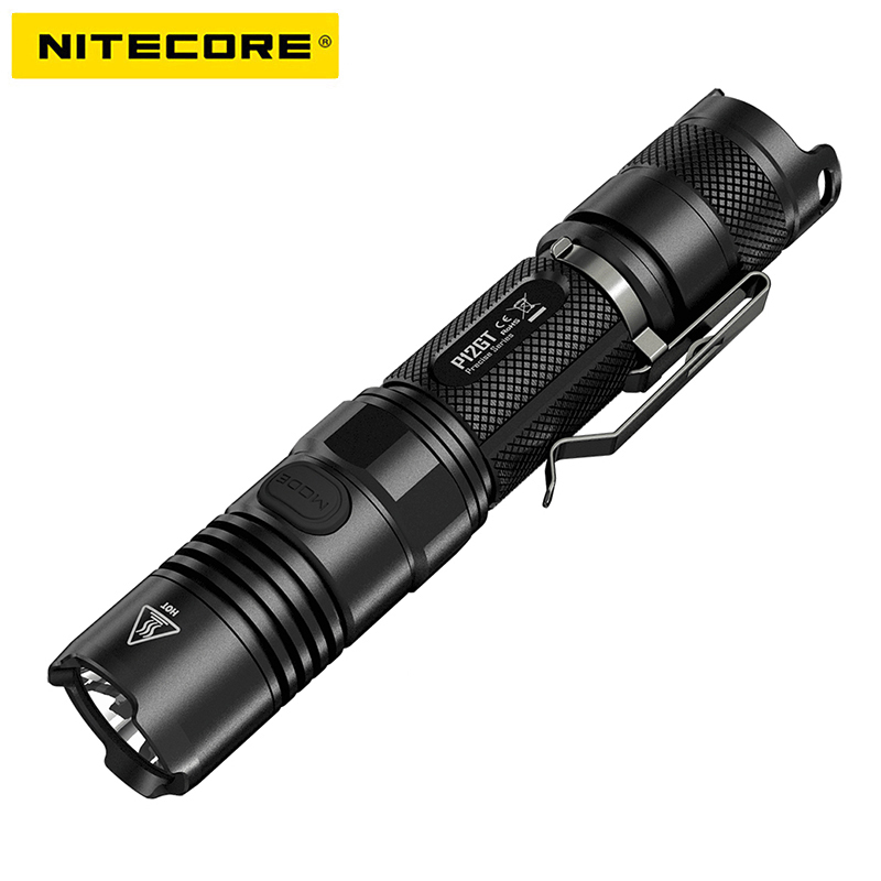 NITECORE P12GT LED Flashlight 7 modes CREE XP-L HI V3 LED 1000 lumens 320m beam distance by 2*CR123 / 1*18650 battery stainless steel link bracelet wrist watchband strap for samsung gear fit 2 sm r360 fit2 pro sm r365 fitness tracker watch band