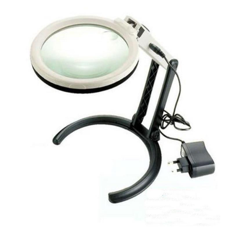 ذره بین چراغ روشنایی لامپ LED دارای نور - ابزار اندازه گیری