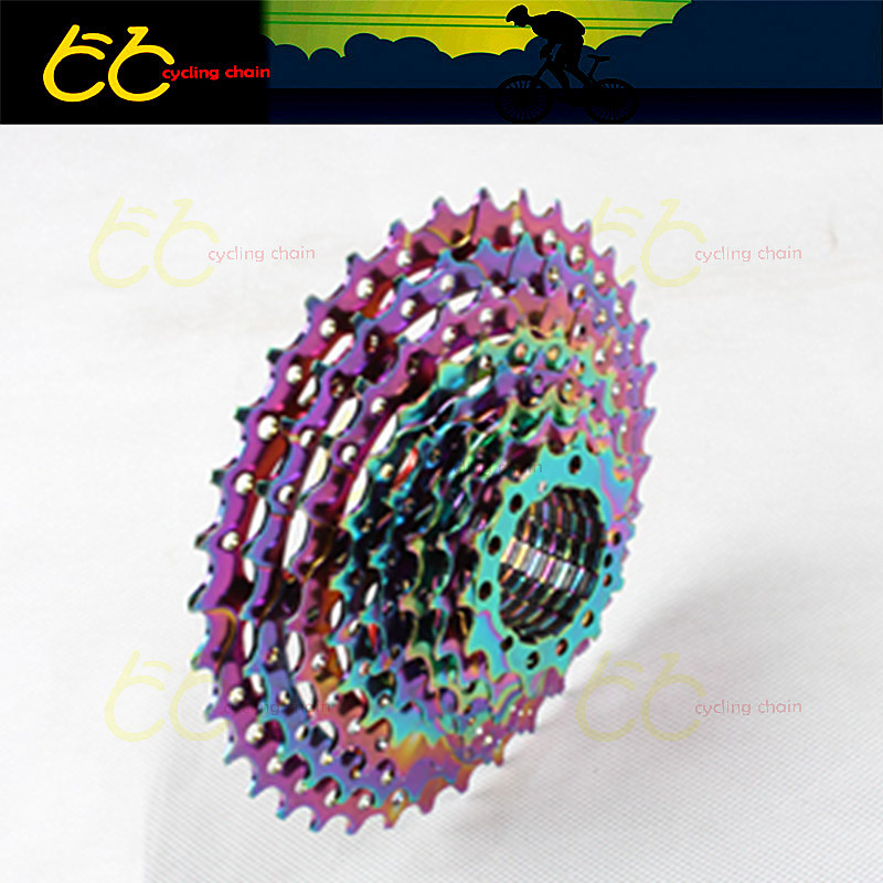 Free shipping 10 Speed Bicycle Freewheel 11-36T Cog Mountain Road Bicycle Cassette Tool Herramientas colorful Flywheel Bike Part