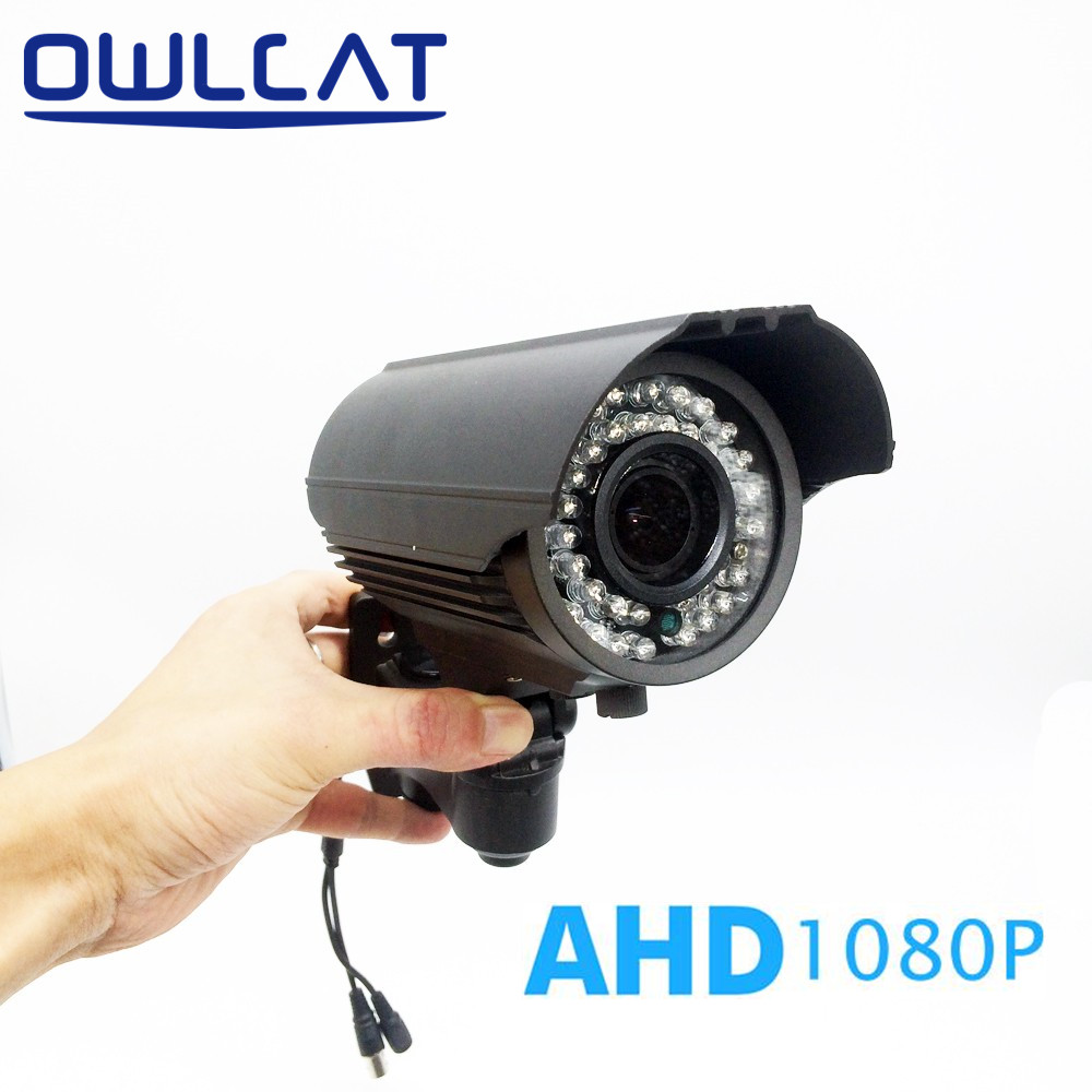цена на OwlCat AHD Camera Outdoor Weatherproof Bullet 2MP Full HD 1080P 2.8-12mm Varifocal Lens Video Security Survelliance CCTV Camera