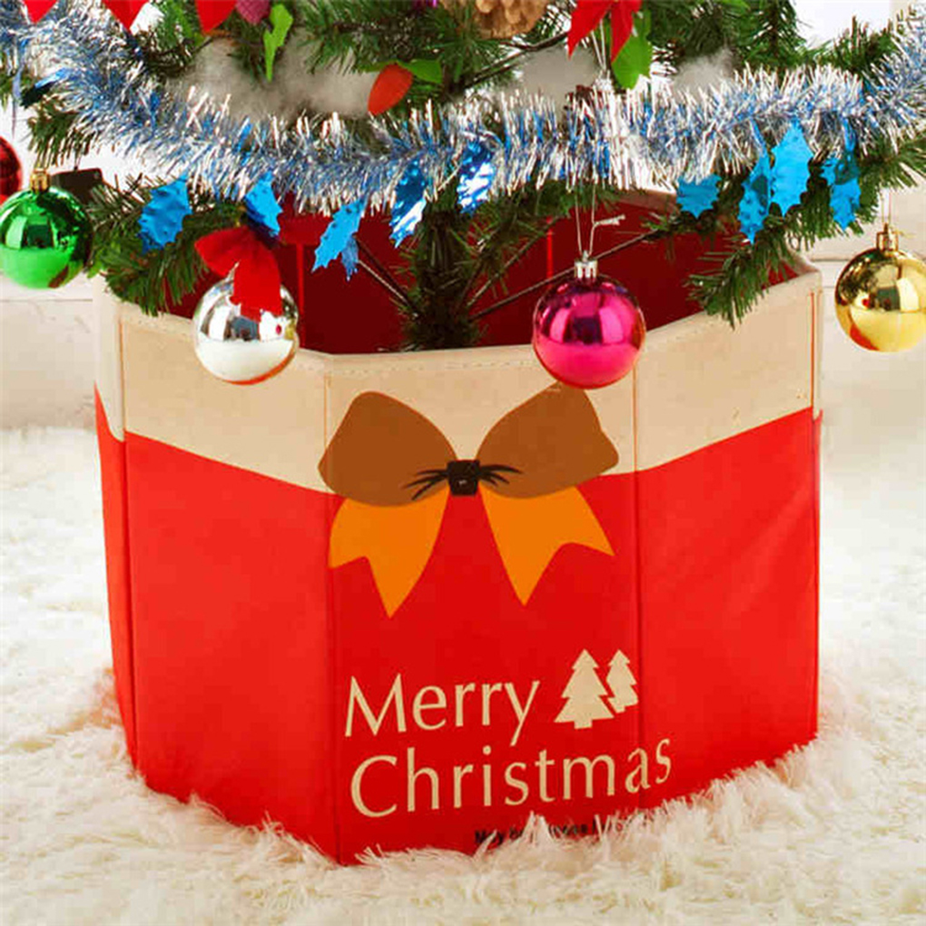 Christmas Tree Decors Tree Foot Box Tree Ornaments Bottom Christmas  Decoration 30x36cm(china)
