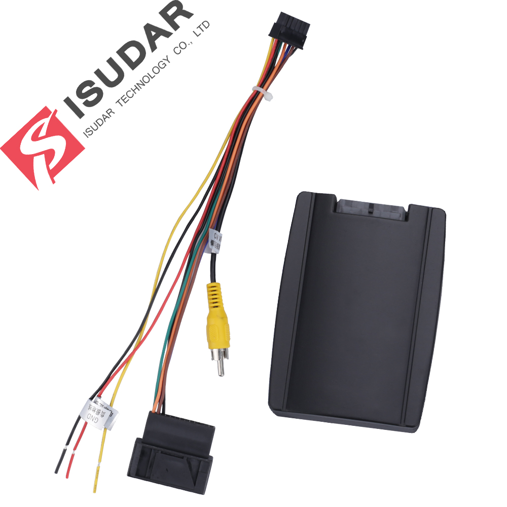 ONLY SUIT FOR ISUDAR DEVICE RGB Adpter Decorder To AV CVBS Signal Converter Box For OEM Factory Reverse Camera For VW/Volkswagen