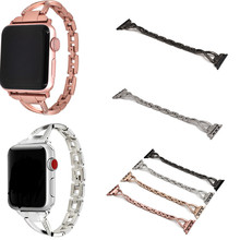 Women Watch Band For Apple Bands 38mm 42mm 40mm 44mm Diamond Stainless Steel Strap iwatch Series 4 3 2 1 Bracelet
