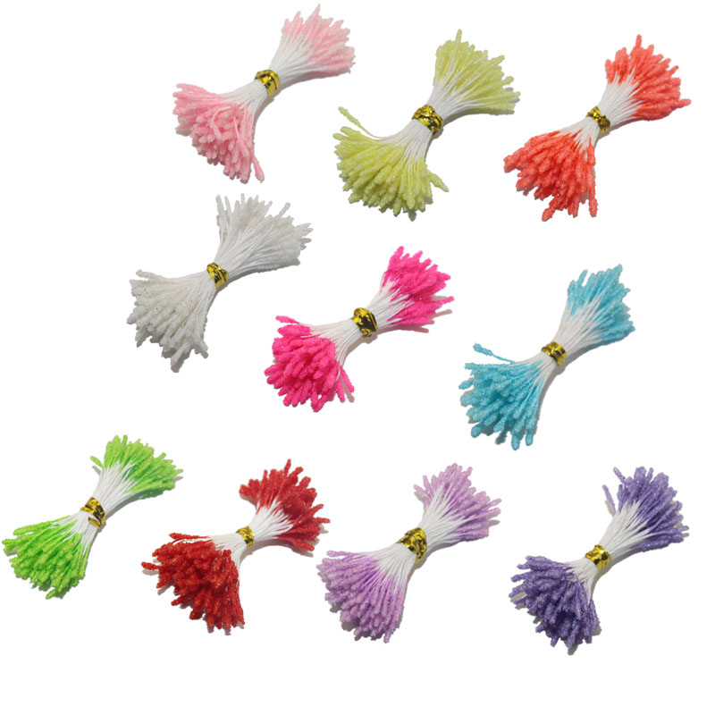 CCINEE 160 PCS/lot 3mm Glass Flower Stamen Pistil Twist Picked Wedding Decoration