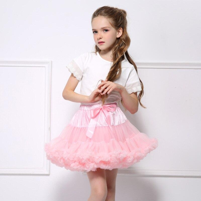 Юбка-пачка для девочек 2019 г. Пышное Бальное Платье для балета, летняя одежда для маленьких девочек юбки для танцев мини-юбка-пачка Saias faldas meninas, Прямая поставка
