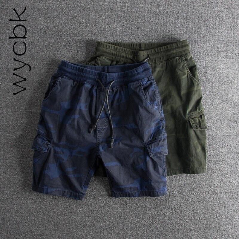 Wycbk Camouflage shorts Men cargo shorts Summer new fashion casual fashion short pants men s multi-pocket tooling shorts men