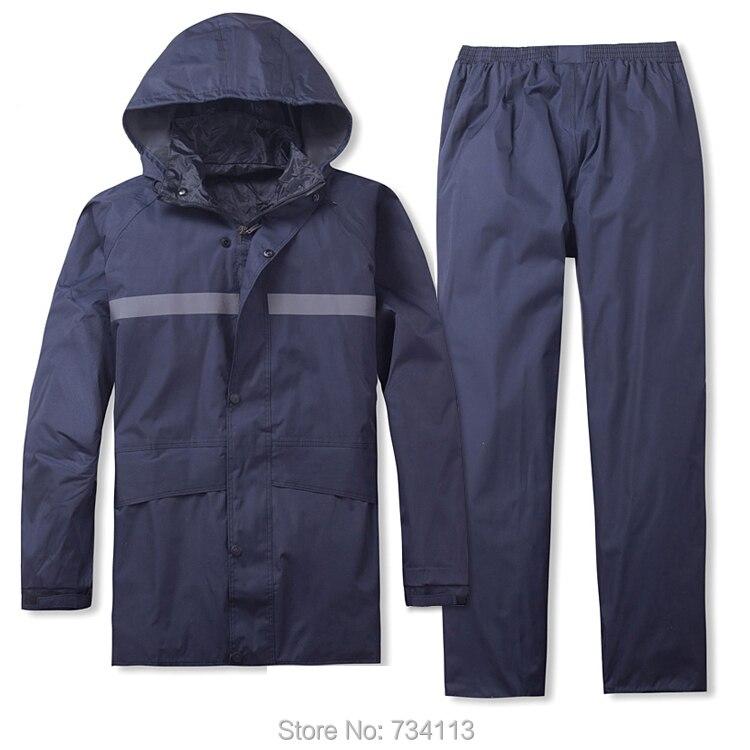 Imperméable homme femme Sports imperméable à l'eau manteau de pluie pêche ferme travail extérieur imperméable costume séparé randonnée pluie veste big 4XL
