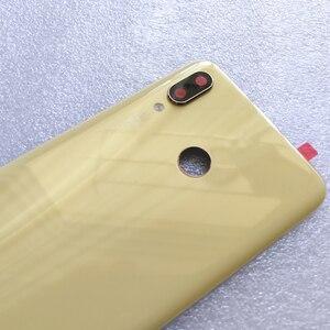 Image 2 - 100% оригинальная новая задняя крышка из закаленного стекла для Huawei Nova 3 Nova3 задняя крышка батарейного отсека Корпус + рамка для камеры + крышка для вспышки