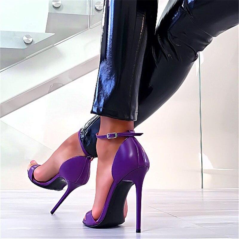 Fiesta Hebilla Alto Púrpura Elegante Marca 2019 Las Tamaño Púrpura De Señoras Mujer Sandalias Tacón Verano Mujeres Zapatos Tira Con Gran Vestido Sexy 4AwxwCqt