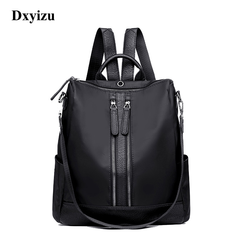 Dxyizu Women Backpack Waterproof Nylon Backpack Women Daily Packs Female Casual Daypacks Travel Small Shoulder Bag Blue Mochila