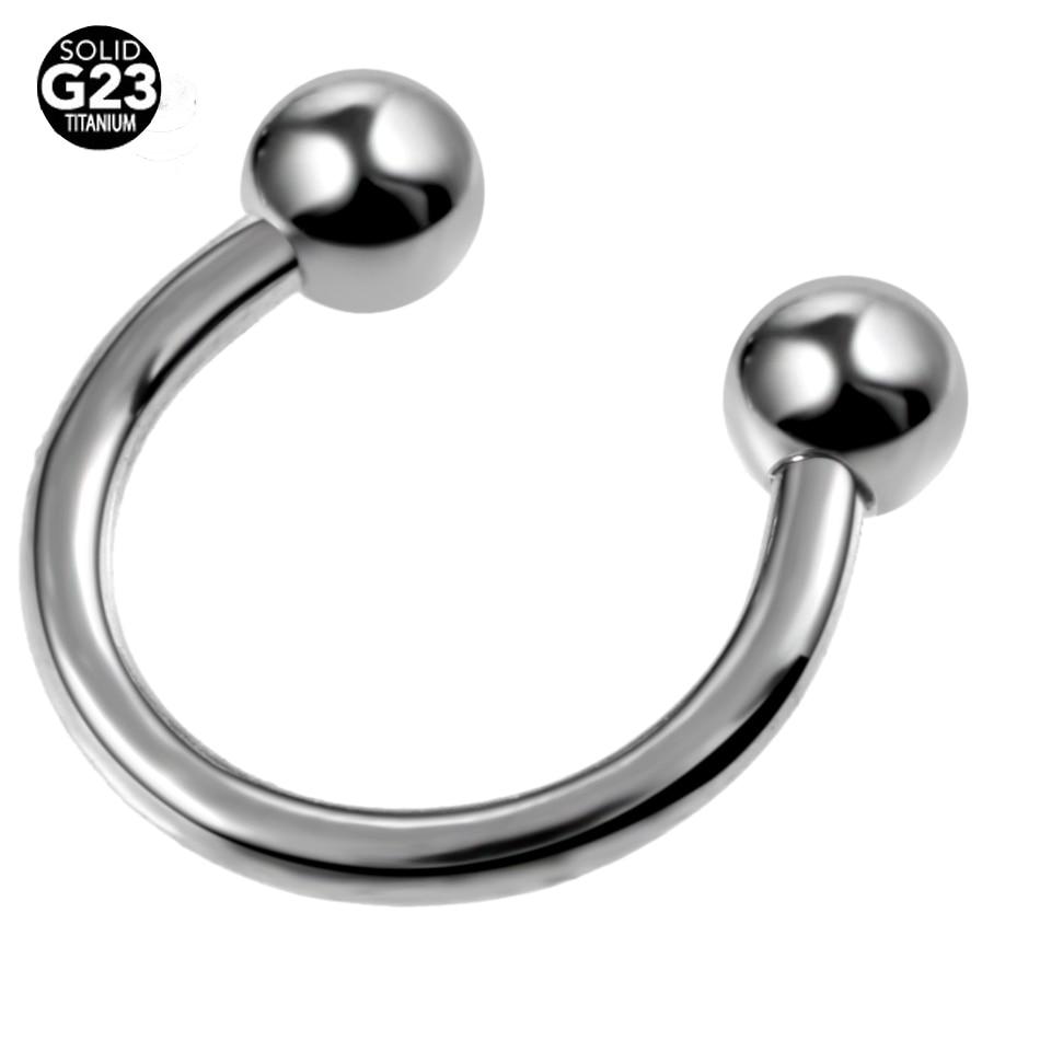 1pc G23 Titanium Horseshoe Piercings Septo Nose Lip Eyebrow Ear Septum  Cartilage Helix Captive Hoop Ring