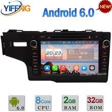 """4G Android 6.0 8 """"32 GB ROM Octa Core 2 GB de RAM WiFi FM Del Coche DVD de Vídeo reproductor de Radio Estéreo Para Honda FIT 2014 2015 2016 GPS Navi"""