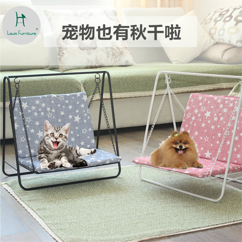 Prime Us 41 9 Louis Fashion Pet Swings Iro House Rocking Chair Hammock Small Dog Modern Simple In Patio Swings From Furniture On Aliexpress Squirreltailoven Fun Painted Chair Ideas Images Squirreltailovenorg