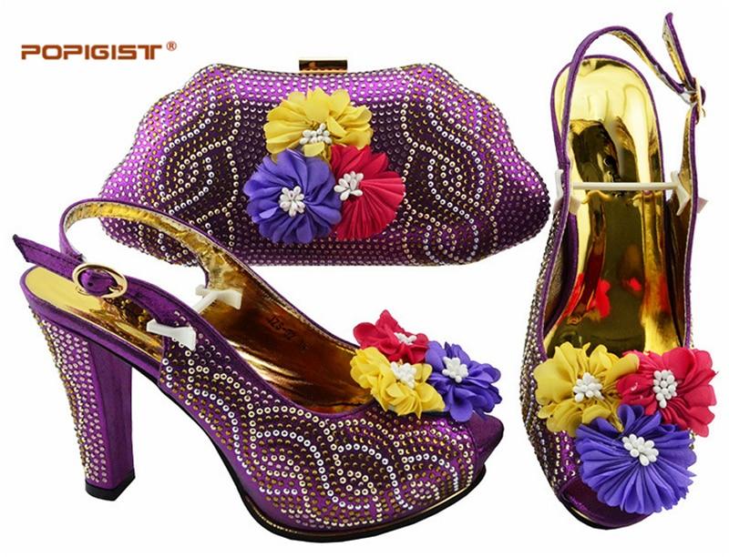 blue Avec Assorties Femmes yellow Sac Chaussures Cm Ensemble Et Italie 11 Picture En Bleu Italiennes red as Assorti D Appliques purple Mis D TwdqtT