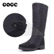 GOGC Winter Boots Women 2019 autumn winter woman High Boots Waterproof Brand Women Shoes Warmful Winter Shoes Women Flat 9893