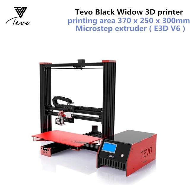 tevo black widow lcd 3d printer kit diy full aluminum large printing ...