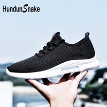Hundunsnake Breathable Sneakers Man Sport Shoes Sports Male Shoes Adult For Running Shoe Walk Summer Chaussure Homme Black B-026