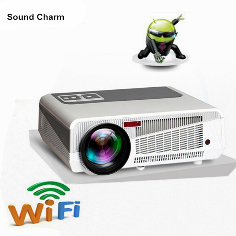 5500 lúmenes inteligente Android 4,4 lcd tv led proyector full hd 1080 p 3d home theater digital video proyector beamer