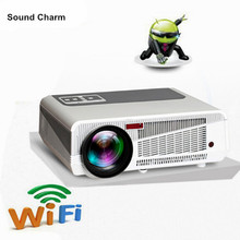 5500 lumens smart Android 4 4 lcd tv led projector support full hd 1080P 3d home theater digital video proyector beamer cheap 42 -300 at 2 17m-5 5m 30-300 inches Manual Correction Sound charm Led Light Digital Projector 8000 1 5500lumens 5 8 TFT Single-LCD Panel Display Full true color(16 670 000)