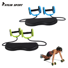 Sports abdominal fitness equipment Core Double Power AB roller trainer wheels fitness Abdominal body building and exercises home high quality adjustable multifunction fitness abdominal exercises double ab roller