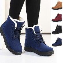 Женские зимние ботинки 35-42 Модные женские ботинки Женские Зимние ботильоны 2016 теплая обувь на каблуке